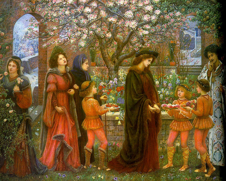 750px-The Enchanted Garden of Messer Ansaldo by Marie Spartali Stillman 1889
