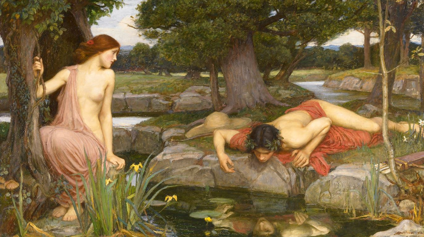 Capture-echo et narcisse John-William-Waterhouse