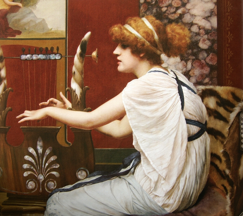 P97 John William Godward. Erato 1895