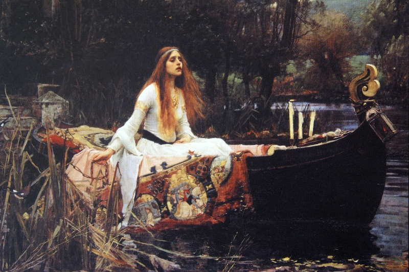 Lady of Skalott par Waterhouse