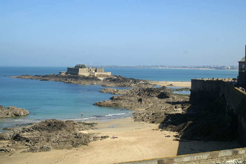Saint-Malo vue vers le fort National