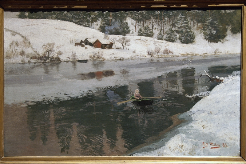 2018-NDK 1250 Oslo galerie nationale oeuvre de Friz Thaulow hiver